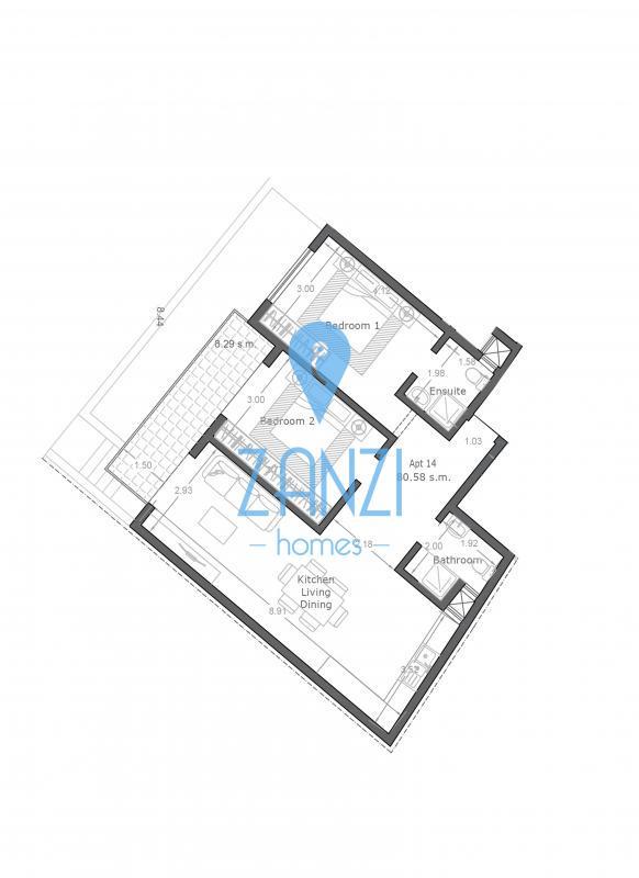 Qawra – 2 Bedroom Apartment For Sale
